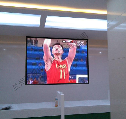甘肃康县县政府室内P3LED显示屏安装完毕