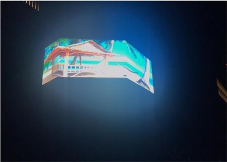 甘肃兰石室外P8LED全彩拐角显示屏安装调试完工