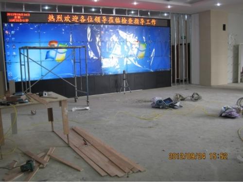 甘肃酒泉市电力局55寸LCD超窄边液晶拼接屏