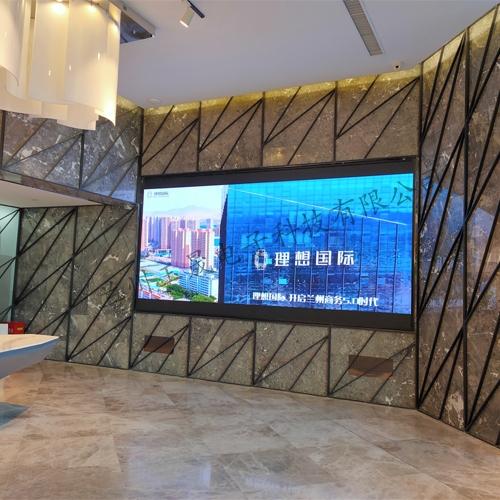 甘肃启德房产室内P2.5全彩LED显示屏完工